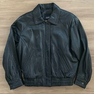 Georgetown Leather Design Black Jacket Thinsulate